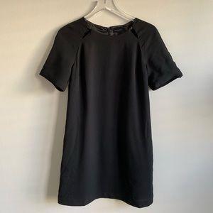 Bordeaux Black A-line Mini Dress cutout accents